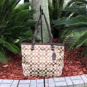Coach Signature Canvas Tote Bag (EUC)